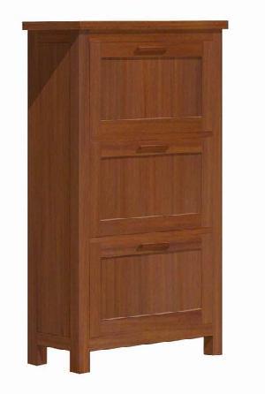 mahogany teak zapatero chest 3 drawers bedroom minimalist indoor furniture