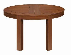 mesa round extension table mahogany teak indoor minimalist furniture