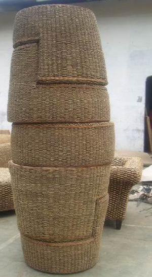 stacking woven furniture arm chair round table