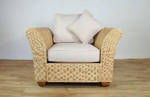 Rattan Arm Chair Cushion Woven Indoor Furniture Seater