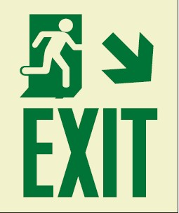 luminescent exit sign