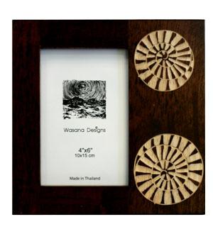 carved wood photo frame