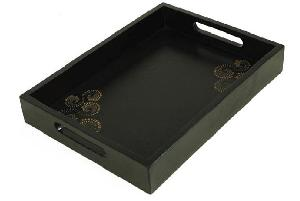 carved wood serving tray tm027 ls06 bs