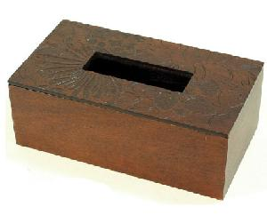 engraved wooden tissue box bx130 ls13 eb