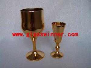 vaccuum plated drinking glass