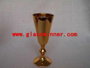 vacuum plated goblet glass
