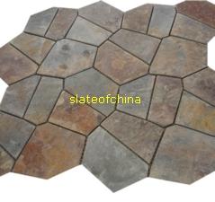 slate paving mat gray flagstone rustyflagstone mats mesh paver slateofchina