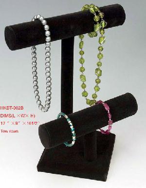 bracelet display leatherette bule colours