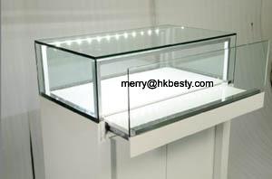 glossy jewelry display showcases