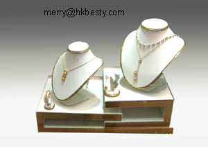 gold colour neck display earring displays