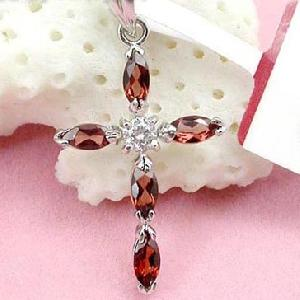 factory rhodium plated sterling silver garnet pendant tourmaline ring citrine jewelry