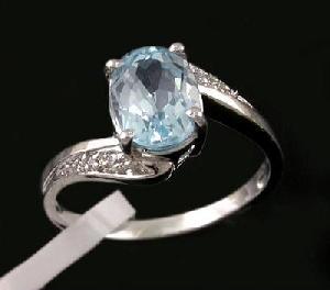 factory rhodium plating sterling silver blue topaz ring rainbow stone amethyst