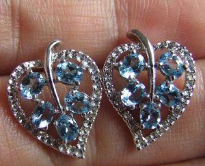 factory sterling silver blue topaz earring tourmaline pendant jade ruby garnet rin