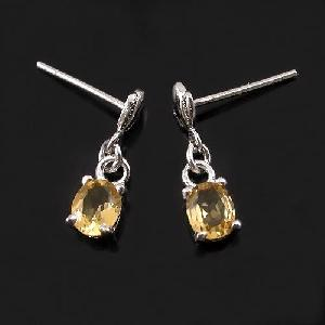 factory sterling silver citrine earring cz jewelry ring smoky quartz