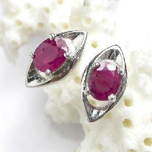 factory sterling silver ruby earring sapphirering jewelry prehnite jadeite earr
