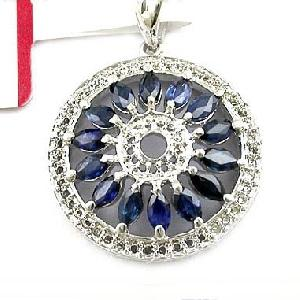factory sterling silver sapphire pendant tourmaline ring fashion jewelry