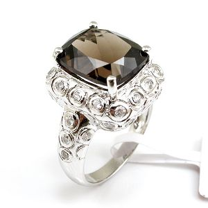 factory sterling silver smoky quartz ring tourmaline bracelet fashion jewelry