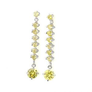 manufactory rhodium plated brass cubic zirconia stud earring fashion jewelry precious sto