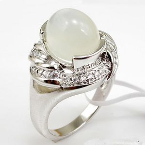 manufactory sterling silver moonstone ring gemstone earring chalcedony pendant