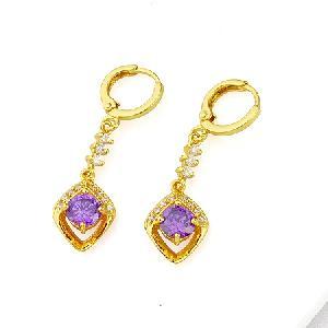 18k gold plating brass cubic zirconia drop earring moonstone bracelet ring