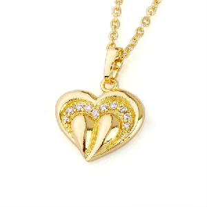 18k gold plating brass cubic zirconia pendant fashion ring earring necklace cz jewelry