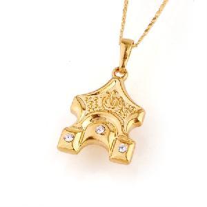 18k gold plating brass cubic zirconia pendant ring cz jewelry precious