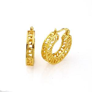 18k gold plating brass hoop earring colors samples