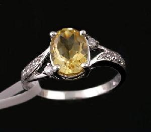 rhodium plated citrine ring tourmaline gemstone earring bracelet pendant