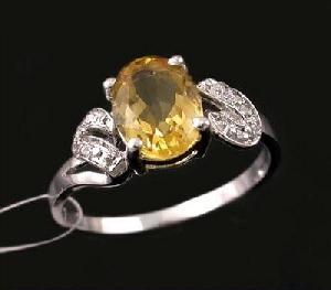 rhodium plated sterling silver citrine ring tourmaline earring moonstone bracelet