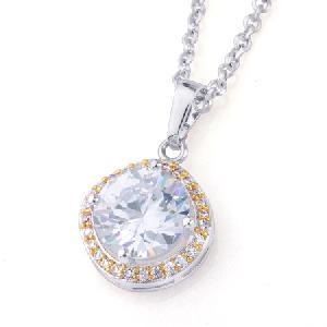 precious stone rhodium plated brass cubic zirconia pendant cz jewelry earring
