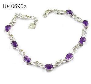 sterling silver amethyst bracelet blue topaz olivine garnet prehnite ring earri