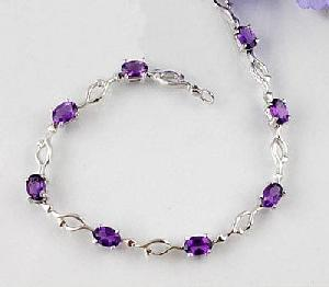 sterling silver amethyst bracelet cz jewelry tourmaline citrine ring fashion jewel