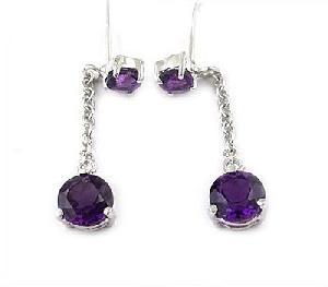 sterling silver amethyst drop earring fashion jewelry sapphire ruby ring bracelet