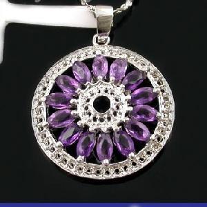 sterling silver amethyst pendant prehnite earring jadeite bracelet gemstone jewelry