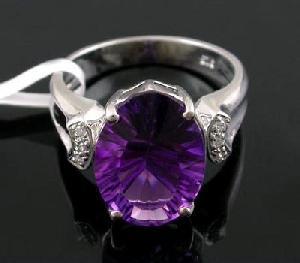 sterling silver amethyst ring tourmaline olivine prehnite earring