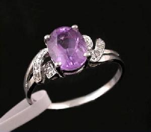 sterling silver amethyst ring brass cz jewelry blue topaz sapphire earring