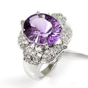 sterling silver amethyst ring cz jewelry tourmaline citrine earrin