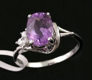 sterling silver amethyst ring cz jewelry tourmaline jadeite fashion