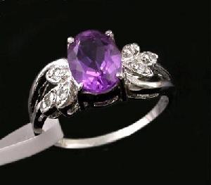 sterling silver amethyst ring prehnite earring pendant bracelet