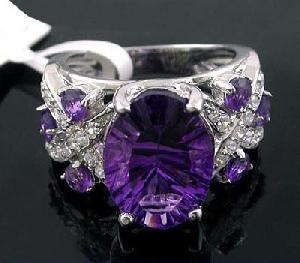 sterling silver amethyst ring tourmaline prehnite bracelet pendant moonstone