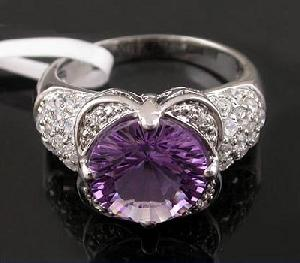 sterling silver amethyst ring tourmaline earring fashion jewelry agate