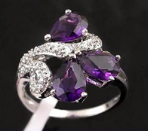 sterling silver amethyst ring tourmaline jadeite prehnite bracelet pendant