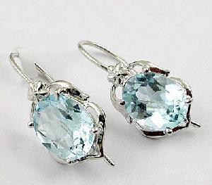 sterling silver blue topaz earring tourmaline bracelet olivine sapphire ri