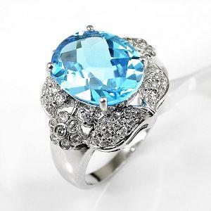 sterling silver blue topaz ring agate fashion jewelry garnet citrine pendant