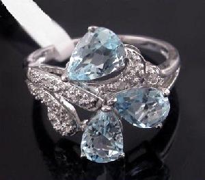 sterling silver blue topaz ring amethyst tourmaline prehnite earring pendan