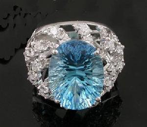 sterling silver blue topaz ring citrine sapphire earring olivine pendant