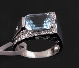 sterling silver blue topaz ring man prehnite jadeite bracelet earring pendant