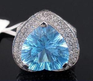 sterling silver blue topaz ring prehnite amethyst earring citrine pendant ruby bra