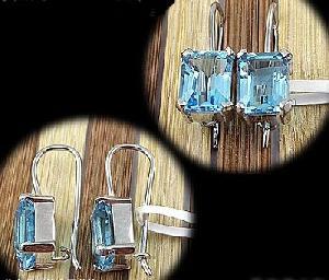 sterling silver blue topaz stud earring citrine pendant amethyst ring tourmaline rin
