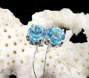 sterling silver blue topaz stud earring citrine ring bracelet prehnite